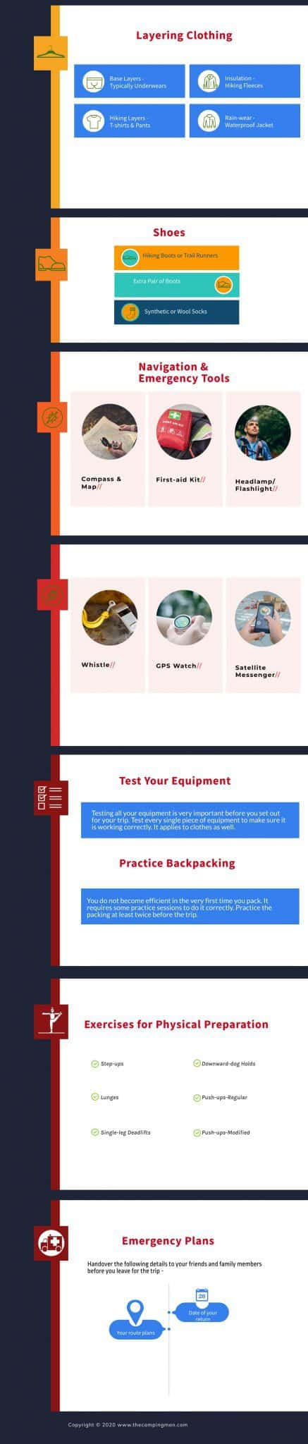 Infographic of Backpacking Tips for Beginners 2