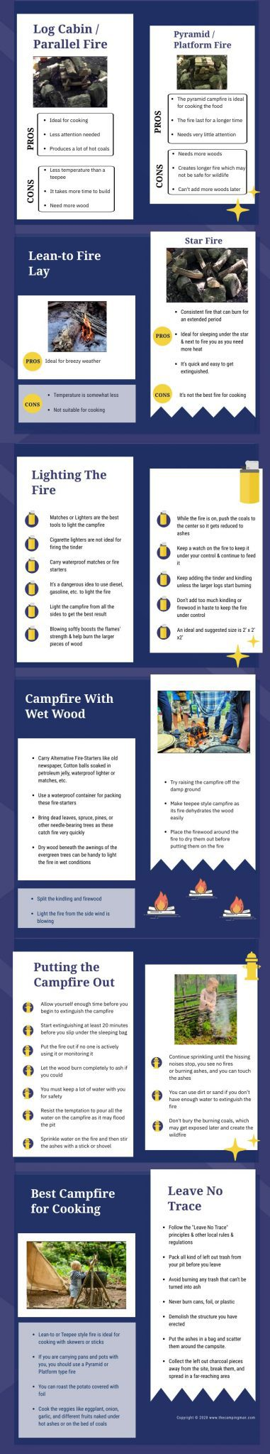 Infographics Of How To Build A Campfire Like A Pro 2