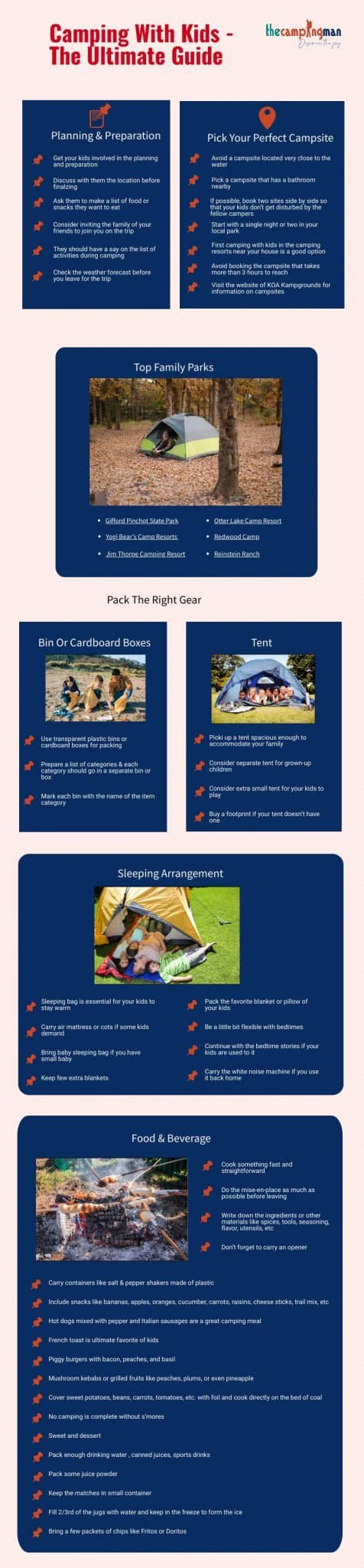 Infographic of Camping with Kids