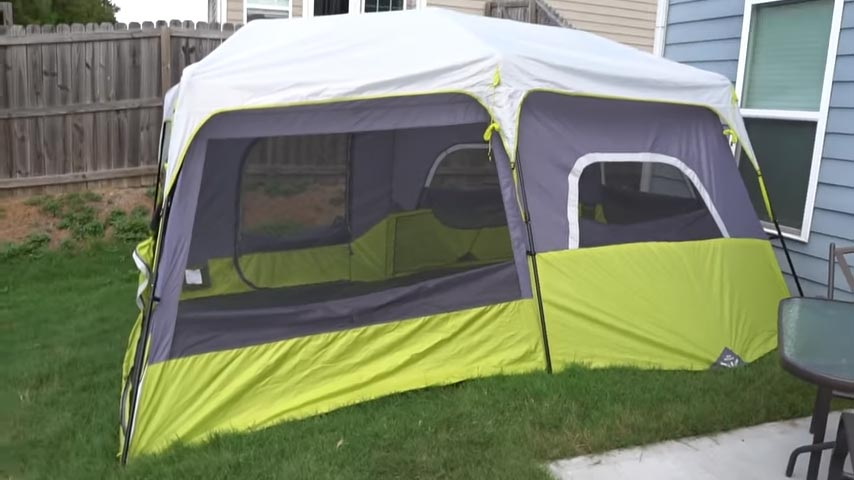 Core 9 Person Instant Tent Front View